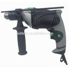 GOLDENTOOL 13mm 710w aluminio de la caja de energía portátil de perforación de la mano de perforación de mano de la máquina de perforación eléctrica de impacto portátil de 13 mm