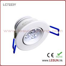 Luz empotrada LC7223y del gabinete del techo de 3W LED