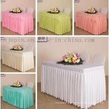 Nappe de couverture de tissu de table de réunion de mariage de banquet d'hôtel fait sur commande de polyester