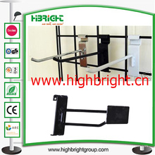 Exhibidor de alambre metálico J-Hook para estante de malla de alambre