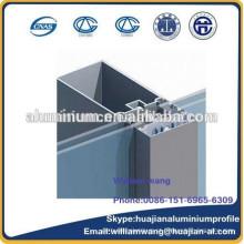 Perfil de alumínio da parede de cortina, perfil de alumínio da grão para janelas, perfil revestido pó, perfil da ruptura térmica,