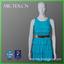 Polyester viscose yarn women dresses new fashion 2014