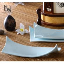 Restaurante del hotel placa de porcelana de buffet placa de cerámica esmalte pigmentado