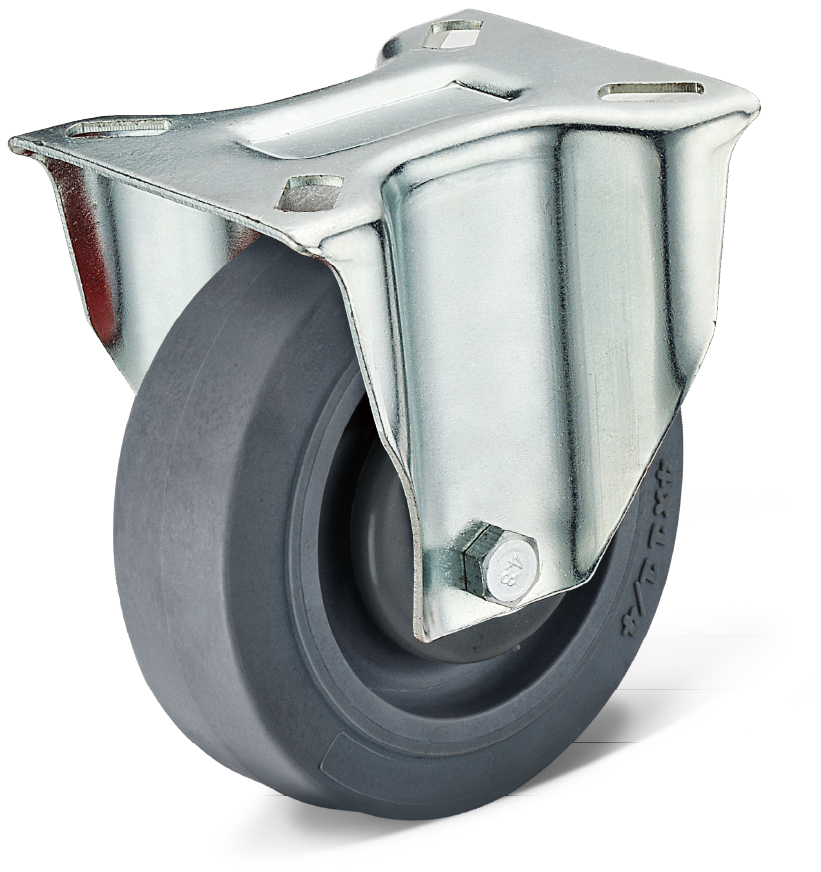 TPR Fixed Caster Wheels