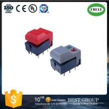 Druckschalter, beleuchtete Druckschalter, kleine Druckschalter mit LED, Mini Druckschalter mit Lampenschalter