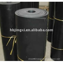 high heat proof strength solid epdm rubber sheet by laminating press