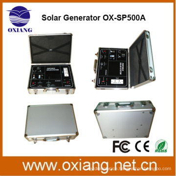 facoty wholesale DC 500w solar portable lighting backup system