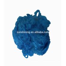 fibra de viscosa fibra color teñido
