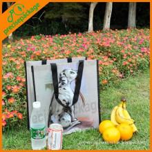 eco reusable waterproof laminated non woven packing shopping bag