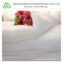 100% polyester Rembourrage de molleton en imitation de soie