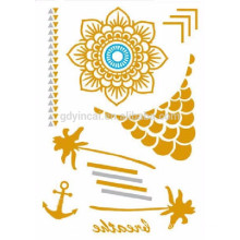 2017 Popular Diaposable Temporary Metallic Mixed Gold And Silver Tattoo Sticker