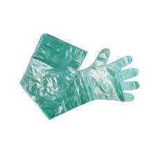 Guantes de inseminación artificial verde manga larga