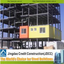Bâtiment à plusieurs étages de structure en acier légère de bâtiment d'hôtel de récipient