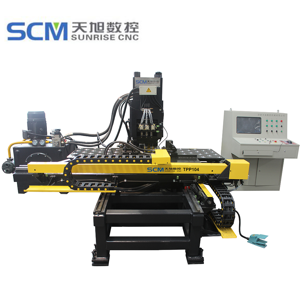 PP104 series cnc punching machine mainly used in tower industry, for joint plate punch hole