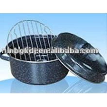 Emaille-Pfanne mit ss201 oder ss304 Gitter