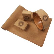 Yugland wholesale custom logo portable gym fitness Eco-friendly Non-slip NaturaL  yoga mat eva block set