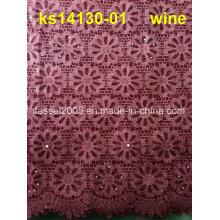 Africano Guipure cordão cordão de tecido polonês, laço de Cupion
