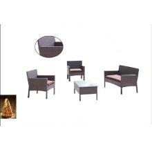 Most Popular 4PCS Garden Wicker Furniture Set with Pillow