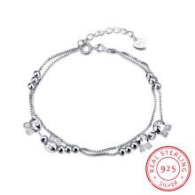 Lovely Bracelet en Acier 925 Bracelet en Perles & Lapins Ol Style Young Design