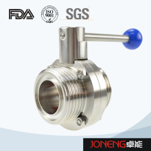 Stainless Steel Sanitary One Side Threaded One Side Clamped Manual Butterfly Valve (JN-BV2008)
