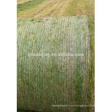 HDPE ensilaje redondo red de paja para la agricultura