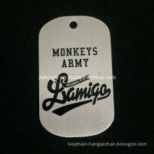Cheap Simple Aluminum Dog Tag for Souvenir Gifts