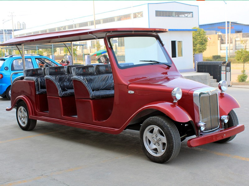 12 seats battery operated electric classic car for sale