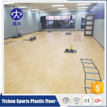 Gym aerobic exercise area pvc maple wood pattern sports flooring
