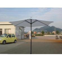Paraguas del Patio del poliester impermeable Sun recto mercado