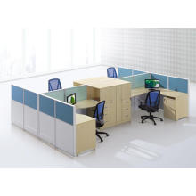 4 people brisk office partition with multifunctional drawer shelf