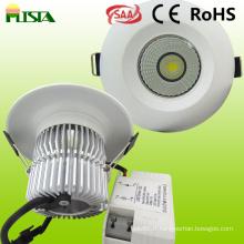 9W LED plafonniers lumière pour applications intérieures