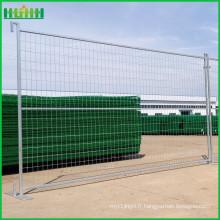 Pvc enduit 6ft construction canada clôture temporaire