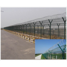 Y-Type Airport Fence with Welded Steel Wire Mesh