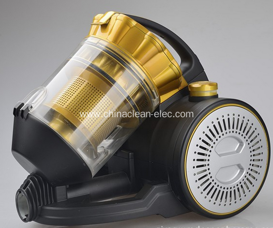 New golden vacuum cleaner with multi-cyclonic filter