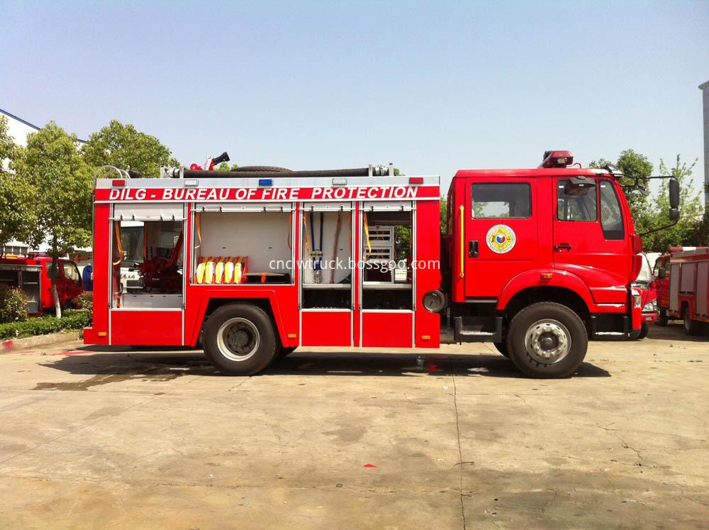 water foam fire truck 3