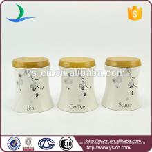 C12008 Keramik-Kanister und Gläser mit hölzernen luftdichten Deckel