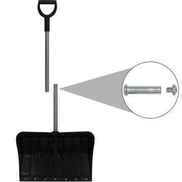 22-inch Snow Shovel with 2-Section Handle
