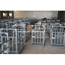 animal weighing scales with fence