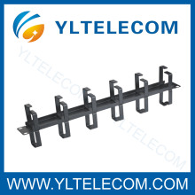 Double Side 19 Inch Cable Manager With 12pcs Metal Ring