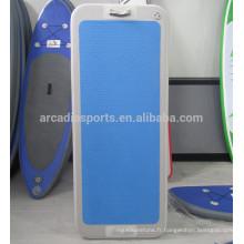 Tapis flottants de sport aquatique gonflable de qualité supérieure de tapis de yoga d'AQUA