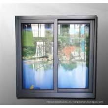Ventana de deslizamiento de aluminio de doble acristalamiento de diseño más reciente / interior de aluminio de ventanas