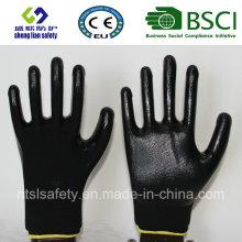 13Г полиэфира оболочки Нитрила покрытием перчатки работы (сл-с n111)