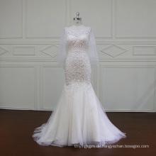 Schwere Perlen Stickerei Brautkleid