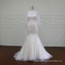 Vestido de novia bordado pesado rebordear