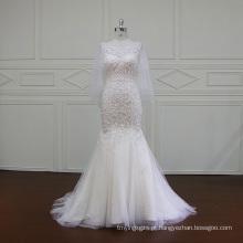 Pesado beading bordados vestido de noiva