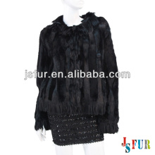 New product hotsale beautiful party fox fur collar rabbit fur and wool garment