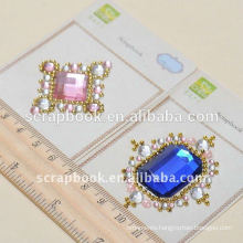 hot selling decorative sticker/ big gem stickers for customized