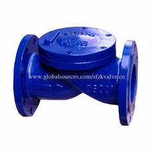 Ball non-return valve with ductile iron casting pig