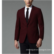 Slim Fit Men's Red Wool Business Suit