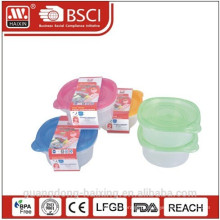 Plástico redondo Food Container 0.95L(2pcs)